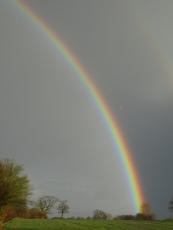 Arc en ciel, La maison du poète, La Manche, janvier 2014