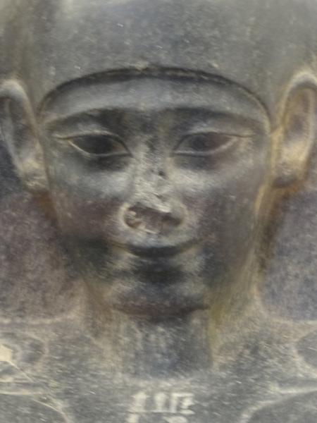 Sourire, Statue de scribe, Musée égyptien du Caire
